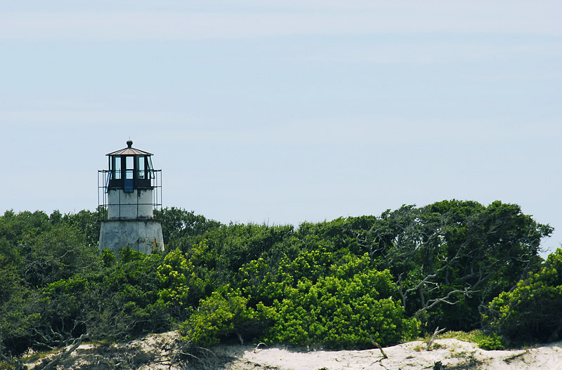 Little Cumberland Light House or Lighthouse on Little Cumberland Island on the North end of the island as seen from Saint Andrews Sound in Georgia on the ICW
