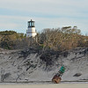 Little Cumberland Lighthouse, Dunes, and House Debris after Hurricane Irma 11-25-17