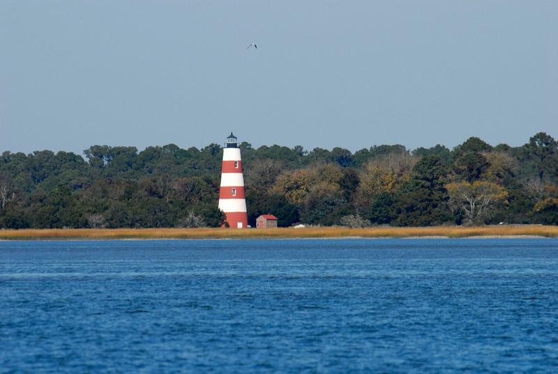 Sapelo Island Lighthouse in Georgia on Doboy Sound