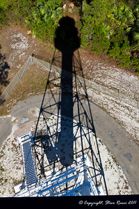 Shadow of the Cape San Blas Lighthouse from the top.