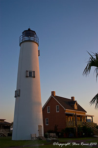 The reconstructed St. George Island Lighthouse, Florida