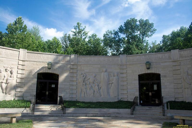 "Lincoln Boyhood National Memorial<br /> <br /> <a href=""http://www.nps.gov/libo/index.htm"">http://www.nps.gov/libo/index.htm</a><br /> <br /> Outside the memorial visitor center."