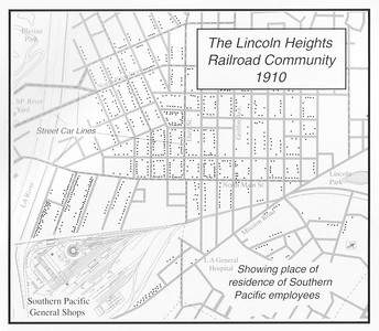 1910, Lincoln Heights Railroad Community Map