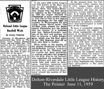 Little League:  Dolton -  Harvey IL
