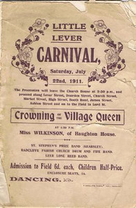 Little Lever Carnival 22nd July 1911