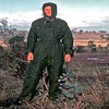 Lofty Harris in the new weather resistant tank suit we were just issued with.