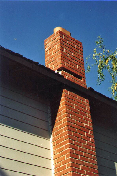 Outside, our two-story chimney lost some bricks just above the roofline. Turns out that the rest was undamaged; we just had to rebuild that part of the chimney.
