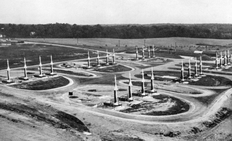 Photo of site when first activated in the early 50's with the Ajax missile system.