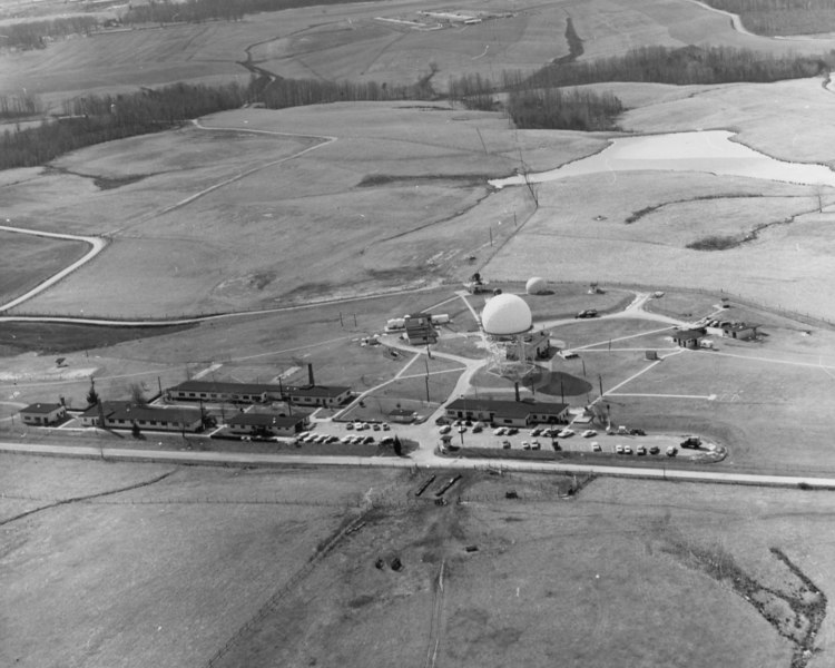 Fire Control photo taken Feb 1969.  Probably one of the last aerial photos taken before inactivation.  The small buildings off to the right of the large Hipar radome are the intervan cooridor and generator buildings used by the 2d Ajax radar set.