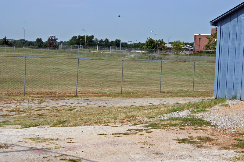 Prison playing field.  Now used by the community for recreation.