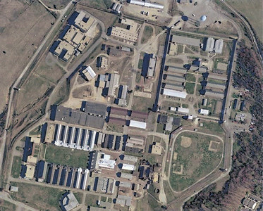 Aerial photo Lorton Prison.  (Maximum security  upper right)