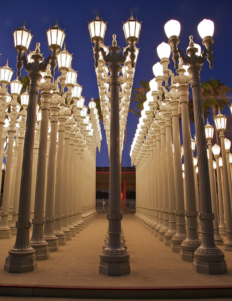 Light sculpture at the Los Angeles County Museum of Art (LACMA)