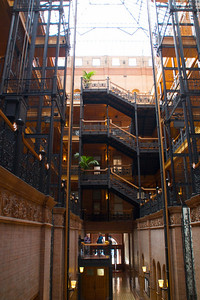The Bradbury Building, down town Los Angeles, Broadway.