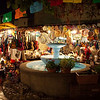Olvera St. on a warm October night in LA. <br /> My girlfriend and I had dinner at La Golondrina Cafe, our favorite spot on Olvera St. in down town LA.  We were accompanied by Emily's sister Michelle and her friend Maria.  This is the view from the front of the restaurant (which is in the oldest brick building in LA).<br /> <br /> This is not Mexico - just tourist trap.
