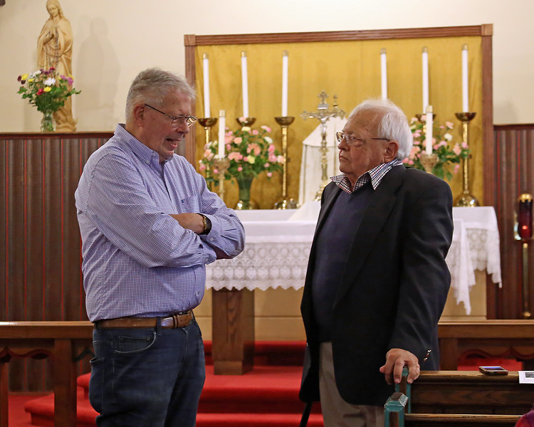 Gene Scheel and James Lucier in St. John's Church