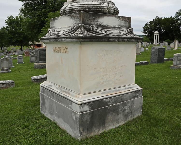 Monument for J Forrest Manning...column carved for Lincoln memorial