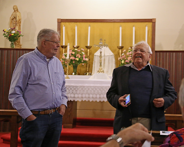 Gene Scheel and James Lucier in St. John's Church