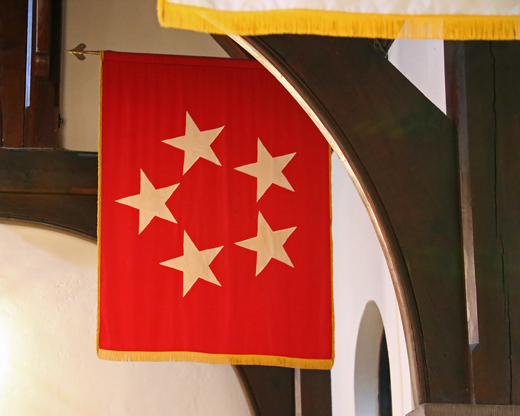 George Marshall's flag in St. James Church