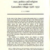 Lumb Race Politics and religion in a South East Lancashire Village 1926-1931 Rev  Theophilus Caleb 001