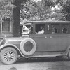 A.J. Baker, 1926 Dodge Hearse, in front of Dr. William and Cora Lages residence on Union St. in Lutesville.