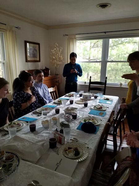 Seder immediately before beginning.