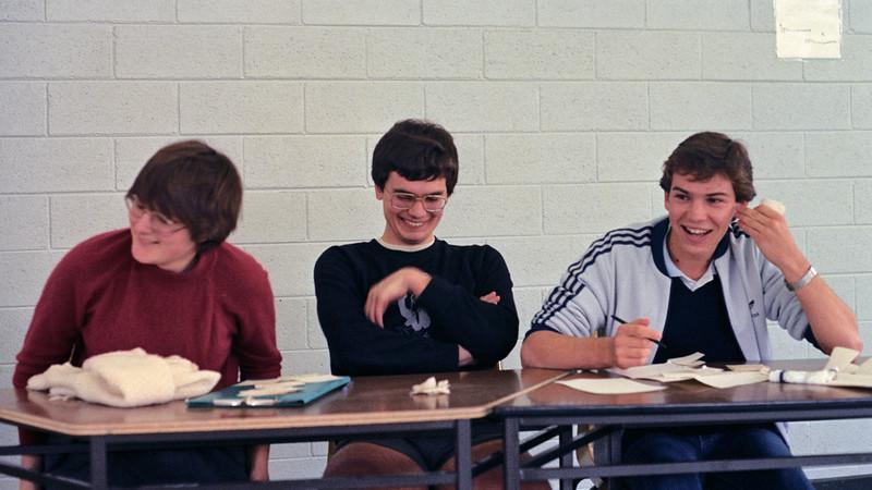 1983. A school in Melbourne. Ingrid McGaughey, John Lenders, Joe D'Abaco.
