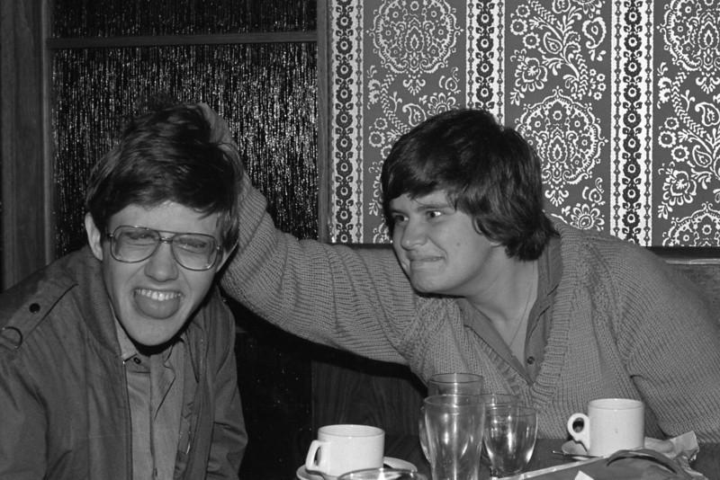 1983 A restaurant in Launceston, Tasmania. Tony Holmes, Elisabeth Ford.