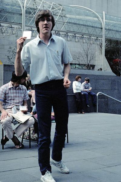 1983 Debate in Melbourne City Square. Tony Holmes.