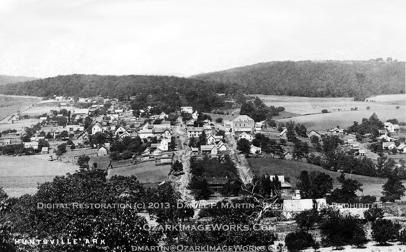 Greater metropolitan Huntsville, AR - late 1910's / early 1920's.<br /> <br /> Digital restoration of original postcard image.