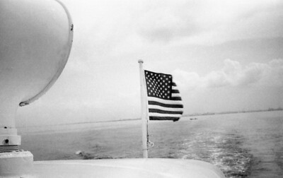 Taking the U.S. Navy launch from the Embasy in Manila to the PX at the Sangley Point Naval Station in Cavite, Philippines, July 1963.