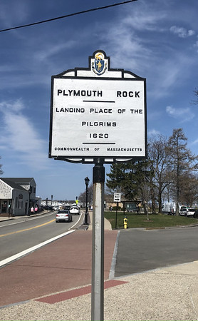 Plymouth Rock. Water St, Plymouth. Not a real Tercentenary Marker but gets an Honorable Mention.