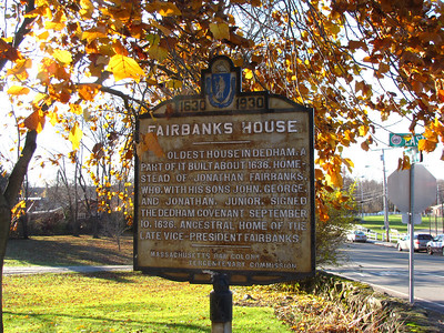 Fairbanks House. East and Eastern Streets, Dedham.