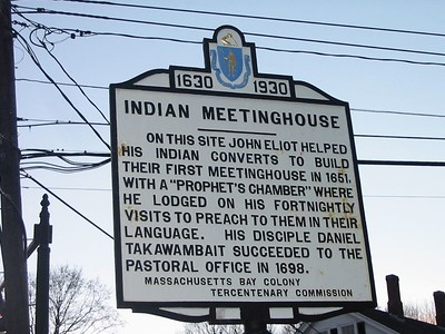 Indian Meetinghouse, Route 27, Natick