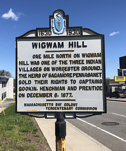 Wigwam Hill. Rte 9 on Worcester-Shrewsbury line