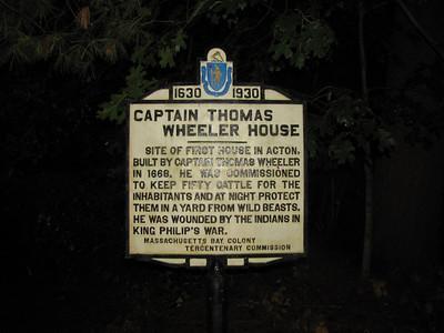 CAPTAIN THOMAS WHEELER HOUSE Alcott St Acton