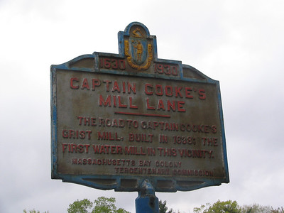 Captain Cooke's Mill Lane, Massachusetts Ave and Water St, Arlington