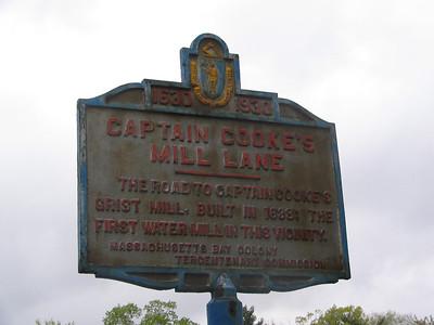 Captain Cooke's Mill Lane, Massachusetts Ave and Water St, Arlington