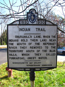 Indian Trail. Adams and Churchill Streets, Milton.