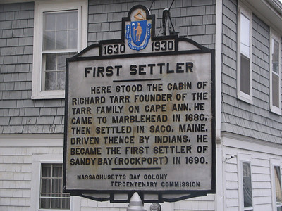 First Settler, Upper Main St, Rockport