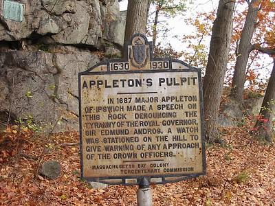 Appleton's Pulpit, Appleton St., Saugus