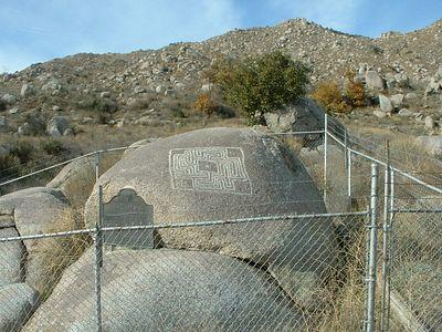 Maze Stone in enclosure, 22 Dec 2003