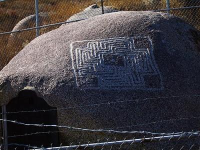 Maze Stone in enclosure, 9 Oct 2005