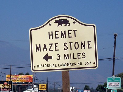 Maze Stone sign on Highway 74, 9 Oct 2005.