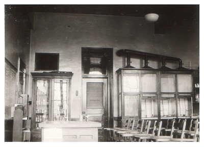 A chemistry lab at Wellington High School, circa 1934. PHOTO PROVIDED