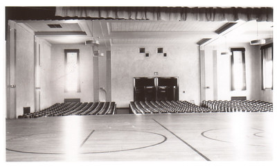 The auditorium at Wellington School, circa 1940. PHOTO PROVIDED