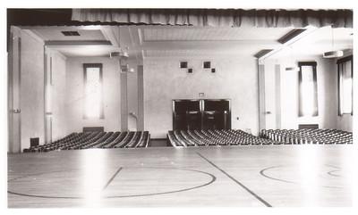 The auditorium at Wellington School, circa 1940. PHOTO PROVIDED