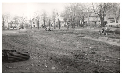 The seventh and eighth grade addition to the Wellington School is under construction, circa 1953. PROVIDED PHOTO