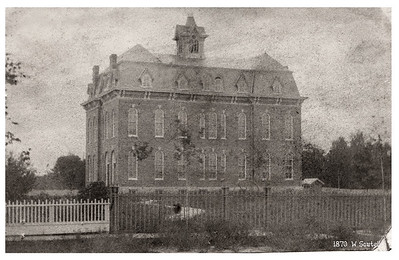 Wellington High School, circa 1870. PHOTO PROVIDED