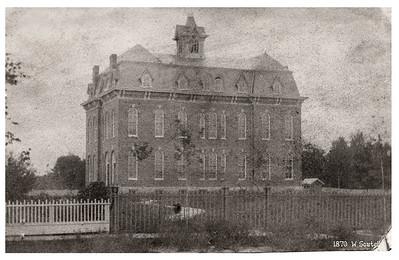 Wellington High School, circa 1870. PHOTO PROVIDED
