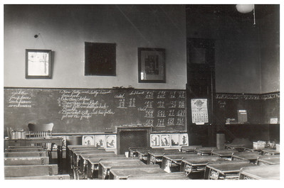 A classroom at Wellington High School, circa 1934. PHOTO PROVIDED